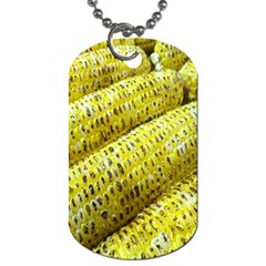 Corn Grilled Corn Cob Maize Cob Dog Tag (One Side)
