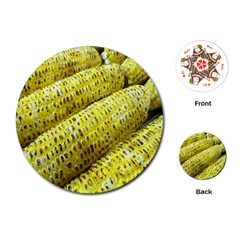 Corn Grilled Corn Cob Maize Cob Playing Cards (Round)