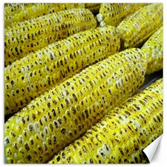 Corn Grilled Corn Cob Maize Cob Canvas 12  x 12