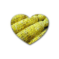 Corn Grilled Corn Cob Maize Cob Heart Coaster (4 pack)