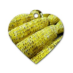 Corn Grilled Corn Cob Maize Cob Dog Tag Heart (One Side)