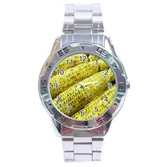 Corn Grilled Corn Cob Maize Cob Stainless Steel Analogue Watch