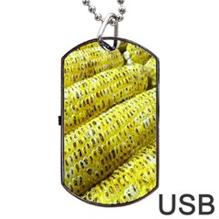 Corn Grilled Corn Cob Maize Cob Dog Tag Usb Flash (one Side)