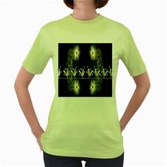 Daisy Bird  Women s Green T-Shirt