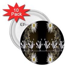 Daisy Bird  2.25  Buttons (10 pack)