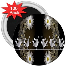 Daisy Bird  3  Magnets (100 pack)