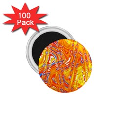 Crazy Patterns In Yellow 1 75  Magnets (100 Pack)