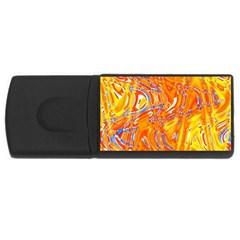 Crazy Patterns In Yellow USB Flash Drive Rectangular (1 GB)