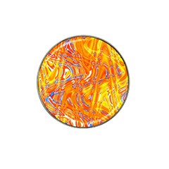 Crazy Patterns In Yellow Hat Clip Ball Marker (4 pack)