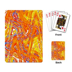 Crazy Patterns In Yellow Playing Card