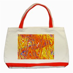 Crazy Patterns In Yellow Classic Tote Bag (Red)