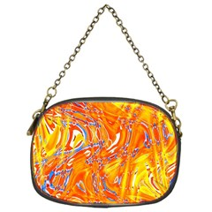 Crazy Patterns In Yellow Chain Purses (one Side)