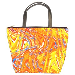 Crazy Patterns In Yellow Bucket Bags