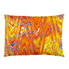 Crazy Patterns In Yellow Pillow Case