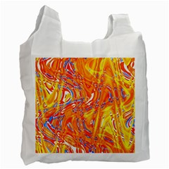 Crazy Patterns In Yellow Recycle Bag (Two Side)