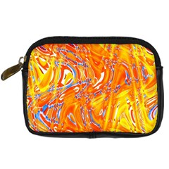 Crazy Patterns In Yellow Digital Camera Cases