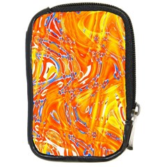 Crazy Patterns In Yellow Compact Camera Cases