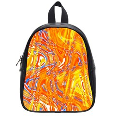 Crazy Patterns In Yellow School Bags (Small)