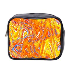Crazy Patterns In Yellow Mini Toiletries Bag 2-Side