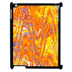 Crazy Patterns In Yellow Apple iPad 2 Case (Black)
