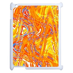 Crazy Patterns In Yellow Apple iPad 2 Case (White)