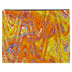 Crazy Patterns In Yellow Cosmetic Bag (XXXL)