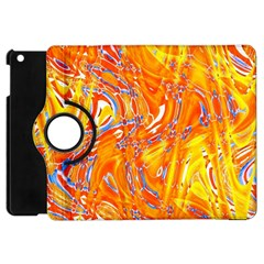 Crazy Patterns In Yellow Apple Ipad Mini Flip 360 Case