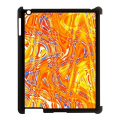 Crazy Patterns In Yellow Apple iPad 3/4 Case (Black)