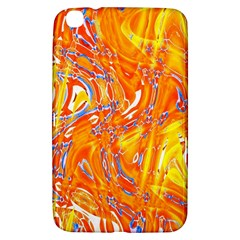 Crazy Patterns In Yellow Samsung Galaxy Tab 3 (8 ) T3100 Hardshell Case