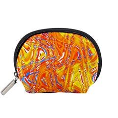 Crazy Patterns In Yellow Accessory Pouches (small)
