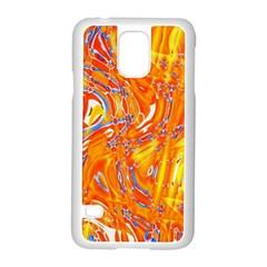 Crazy Patterns In Yellow Samsung Galaxy S5 Case (white)