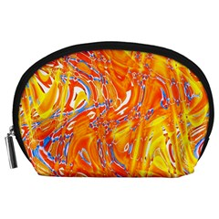 Crazy Patterns In Yellow Accessory Pouches (large)
