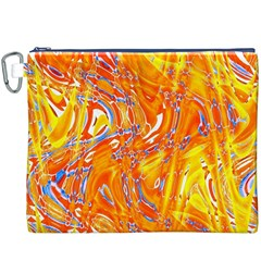 Crazy Patterns In Yellow Canvas Cosmetic Bag (XXXL)