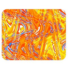 Crazy Patterns In Yellow Double Sided Flano Blanket (Medium)