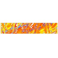 Crazy Patterns In Yellow Flano Scarf (large)