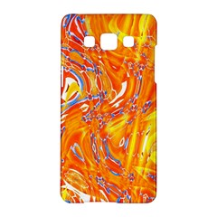 Crazy Patterns In Yellow Samsung Galaxy A5 Hardshell Case
