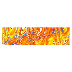 Crazy Patterns In Yellow Satin Scarf (Oblong)
