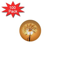 Dandelion Sun Dew Water Plants 1  Mini Buttons (100 pack)