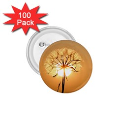 Dandelion Sun Dew Water Plants 1 75  Buttons (100 Pack)
