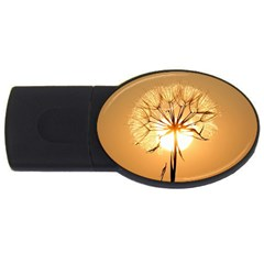 Dandelion Sun Dew Water Plants USB Flash Drive Oval (1 GB)