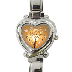 Dandelion Sun Dew Water Plants Heart Italian Charm Watch