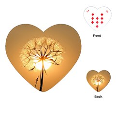 Dandelion Sun Dew Water Plants Playing Cards (Heart)