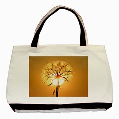 Dandelion Sun Dew Water Plants Basic Tote Bag (Two Sides)