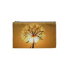 Dandelion Sun Dew Water Plants Cosmetic Bag (Small)