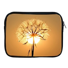 Dandelion Sun Dew Water Plants Apple iPad 2/3/4 Zipper Cases