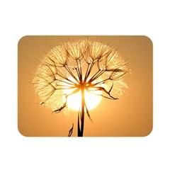 Dandelion Sun Dew Water Plants Double Sided Flano Blanket (Mini)