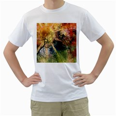 Decoration Decorative Art Artwork Men s T Shirt (white) (two Sided)