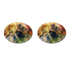 Decoration Decorative Art Artwork Cufflinks (Oval)