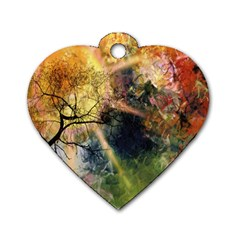 Decoration Decorative Art Artwork Dog Tag Heart (One Side)
