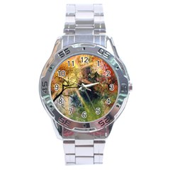 Decoration Decorative Art Artwork Stainless Steel Analogue Watch